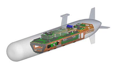 Klein AUV/UUV System 3500 side scan sonar