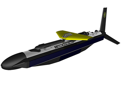 Klein System 5900 side scan sonar with optional K-Wing