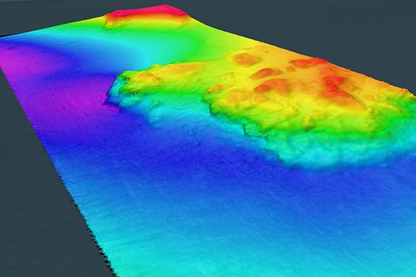 Sidescan Sonar Bathymetry data showing ocean floor