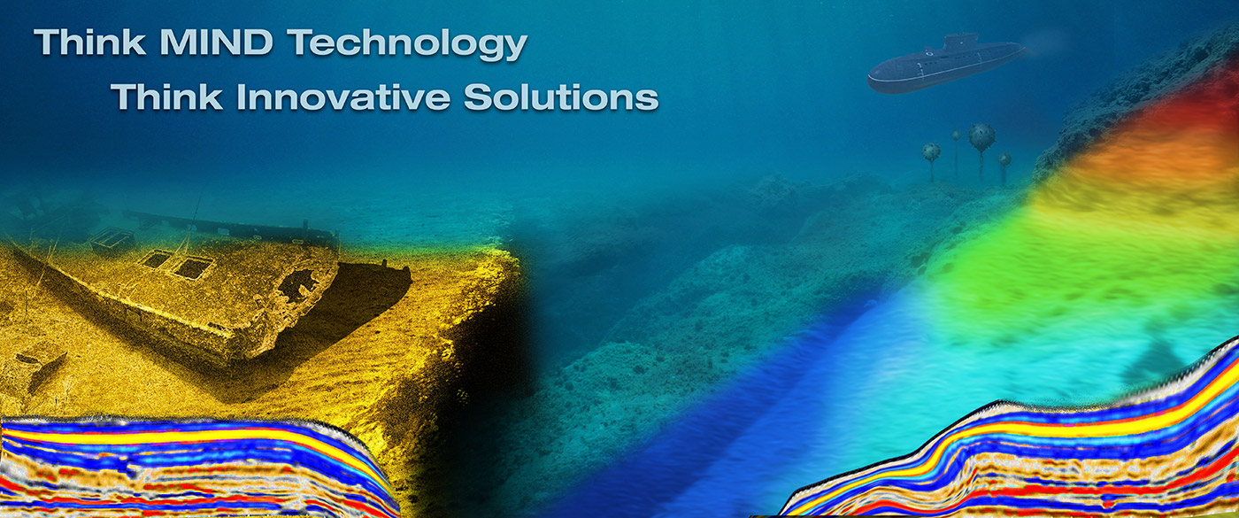 Hompage graphic for MIND Technology showing ocean floor and technology
