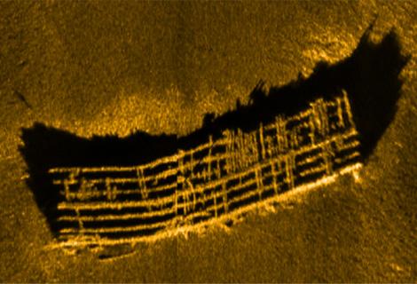 Klein MAKO showing submerged bridge