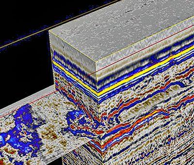 Seismic data from sub-surface ocean survey